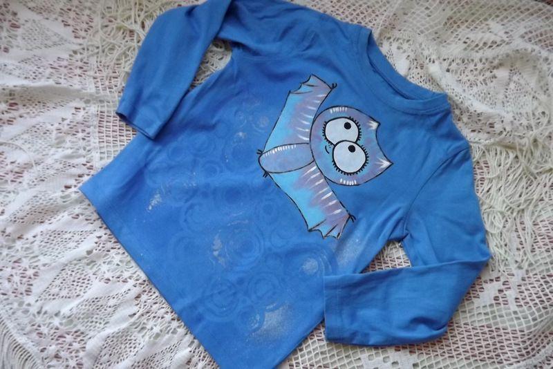 "Netopejr 98- modré tričko s dlouhým rukávem Veronika ""Tanísek"" Kocková"