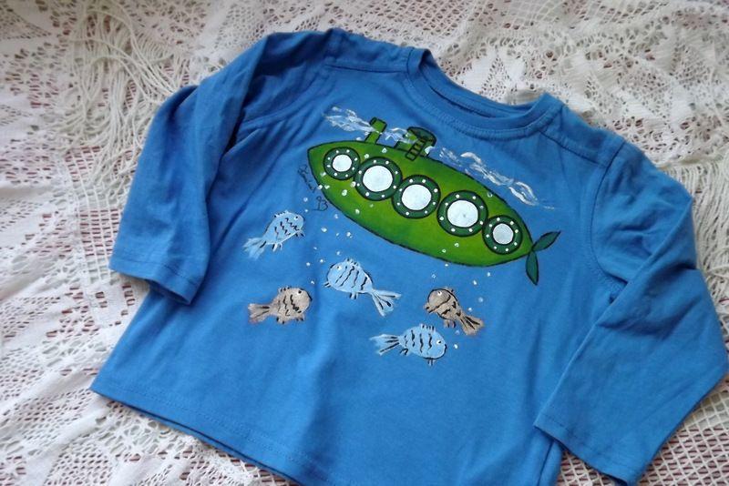 """Modrá Turboponorka 98- modré tričko s dlouhým rukávem Veronika """"Tanísek"""" Kocková"""