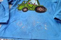 """Traktor 98 modrý - modré triko s dlouhým rukávem Veronika """"Tanísek"""" Kocková"""
