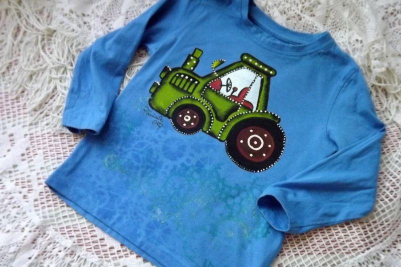 """Traktor 92 - modré triko s dlouhým rukávem Veronika """"Tanísek"""" Kocková"""