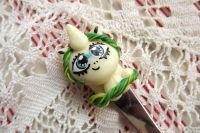 Jednorožčí fimo vidlička - ručně modelovaná a malovaná