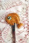 Zlatá rybka - fimem zdobená polévková lžíce - ručně modelovaná a malovaná