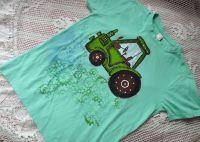 Mátové tričko se zeleným traktorem xS