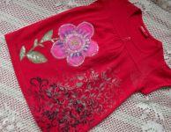Květinka malinová dívčí tunička 110