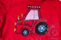 Ručně malované tričko s traktorem (fialové okno)