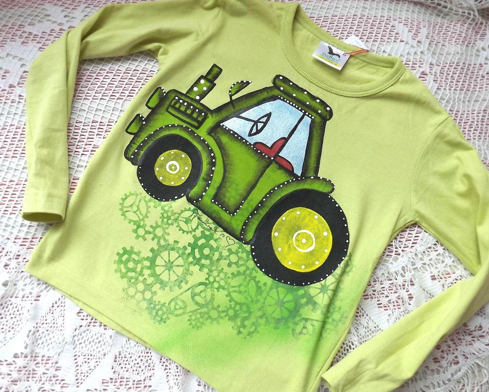 "Traktor zelený na zeleném dr.116 Veronika ""Tanísek"" Kocková"