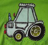 """Zelené tričko s modrým traktorem 122 Adler Veronika """"Tanísek"""" Kocková"""